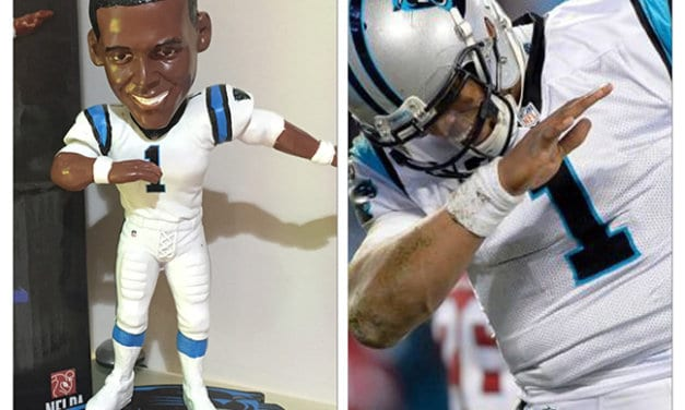 """Bobble of the Day Cam Newton """"The Dab"""""""