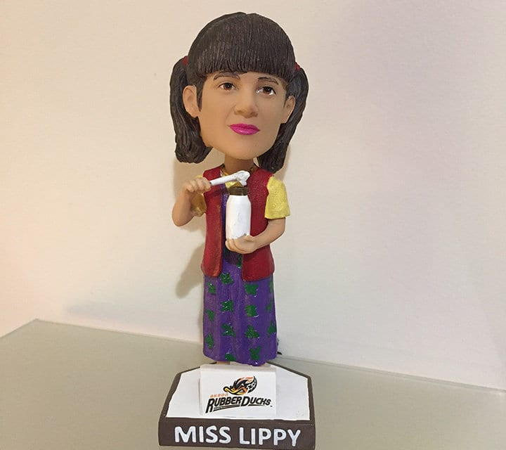 "Bobble of the Day ""Miss Lippy"" Akron Rubberducks"