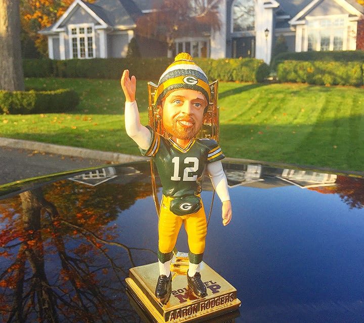 "Bobble of the Day ""Aaron Rodgers"" 2014 MVP"