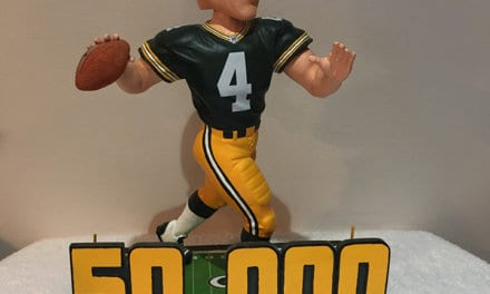 "Bobble of the Day ""Brett Favre"" 50,000 Yards"