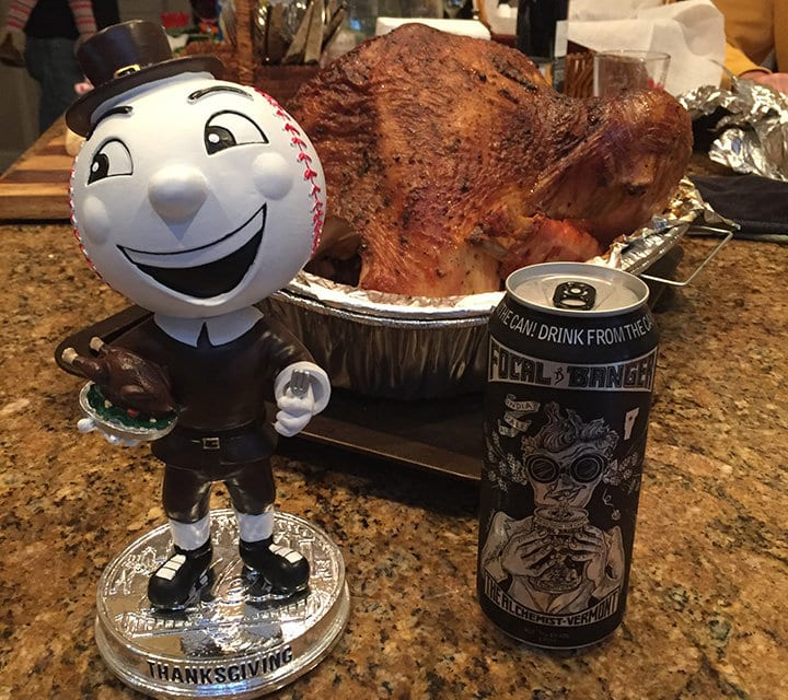 "Thanksgiving Bobble of the Day ""Mr. Met"""