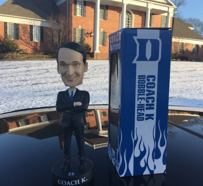 """Bobble of the Day """"Coach K"""""""