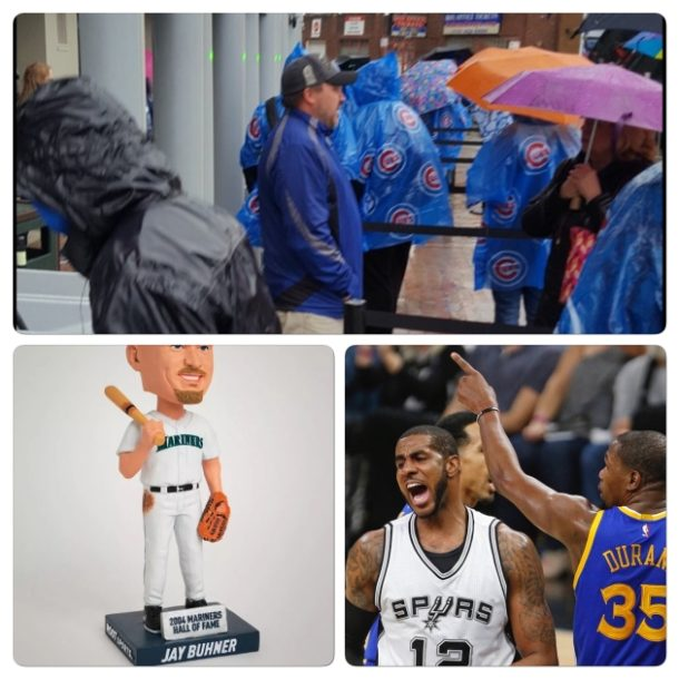 Weekend Recap-Cubs Game Canceled/Jay Buhner Bobble/Warriors Roll