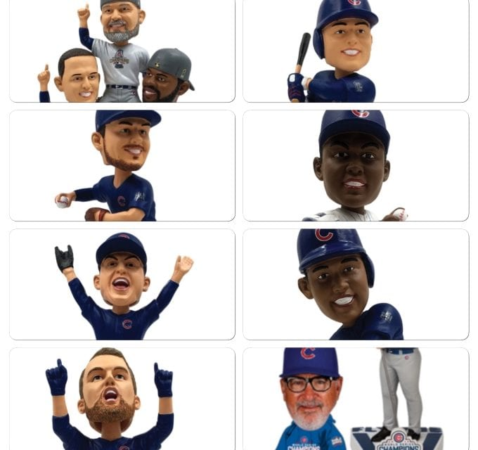 Overkill on Chicago Cubs World Series Bobbleheads!