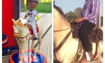 "Bobble of the Day ""Yoenis Cespedes"" Horse Bobblehead"