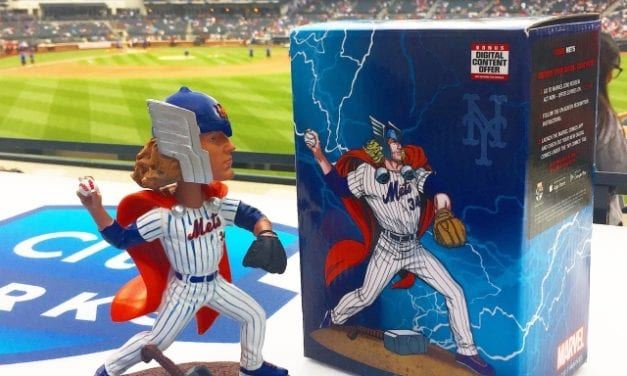 """78991937b1947 Bobble of the Day """"Syndergaard as Thor"""" presented by Marvel"""