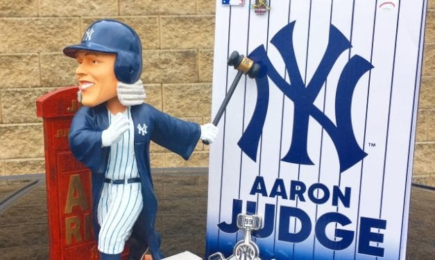 """45b63c91f2bb4 Bobble of the Day """"Aaron Judge"""" All Rise Judgement Day Bobblehead"""