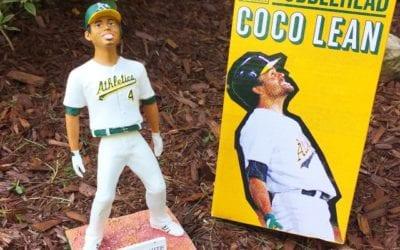 """30511aa7244b5 Bobble of the Day """"Coco Crisp"""" Coco Lean"""