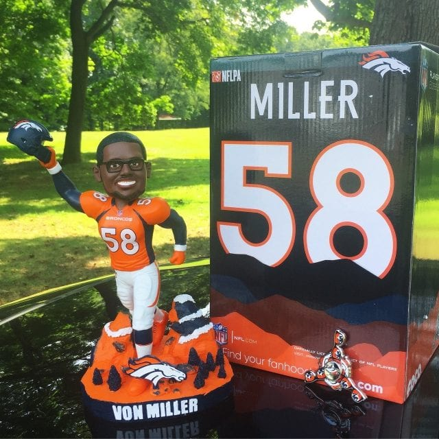 "Bobble of the Day ""Von Miller"" Special Edition Bobblehead"
