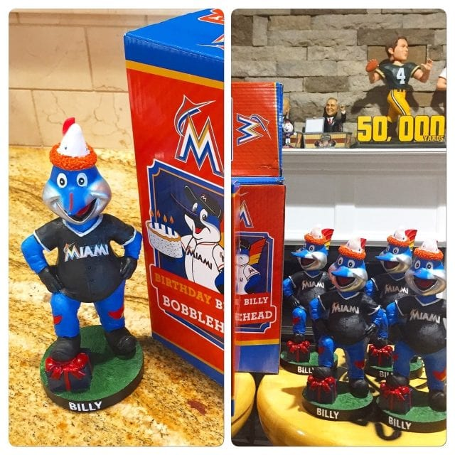 "Bobble of the Day ""Billy The Marlin"" Happy Birthday Bobblehead"