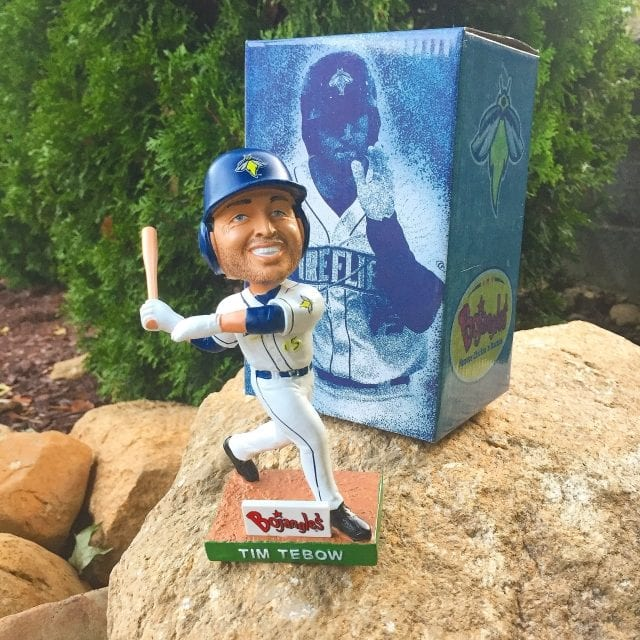 "Bobble of the Day ""Tim Tebow"" Columbia Fireflies SGA Bobblehead"
