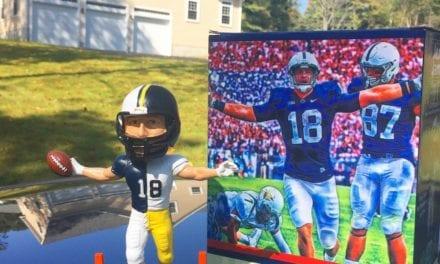 "Bobble of the Day ""Jesse James"" Penn State/Steelers SGA Bobblehead"