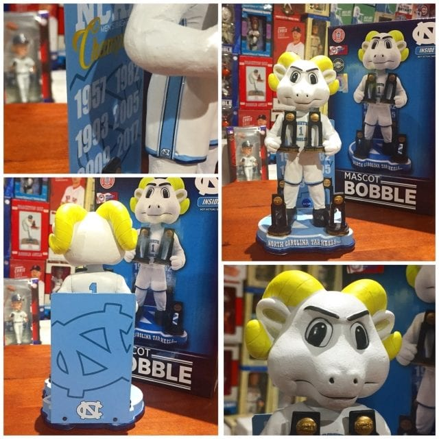 "Bobble of the Day ""UNC Tarheels"" 6X NCAA Championship Bobblehead"