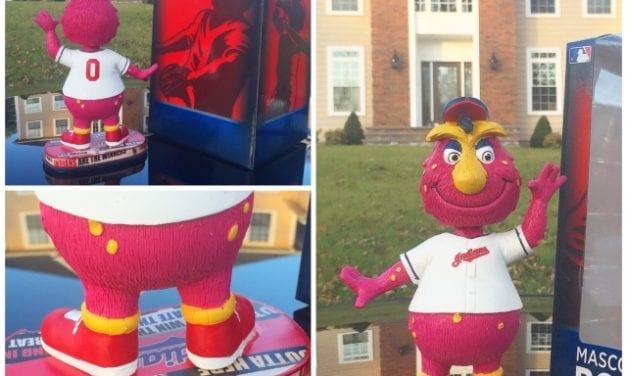"Bobble the Day ""Slider"" Cleveland Indians ""Headline"" Mascot Bobblehead"