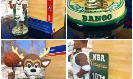 "Bobble of the Day ""Bango"" Milwaukee Bucks 1971 Championship bobblehead"