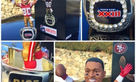 """Bobble of the Day """"Jerry Rice"""" 49ers 1994 SB Championship Bobblehead"""