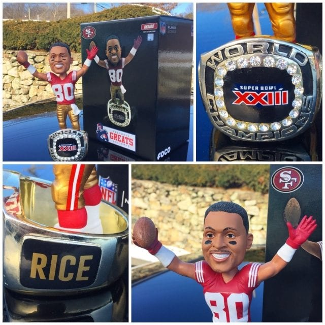 "Bobble of the Day ""Jerry Rice"" 49ers 1994 SB Championship Bobblehead"