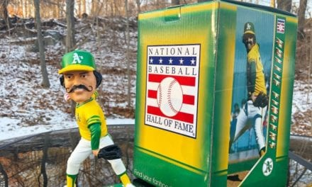 "Bobble of the Day ""Rollie Fingers"" MLB Legends bobblehead"