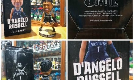 "Bobble of the Day ""D'Angelo Russell Brooklyn Nets SGA Bobblehead"