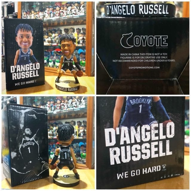 """Bobble of the Day """"D'Angelo Russell Brooklyn Nets SGA Bobblehead"""