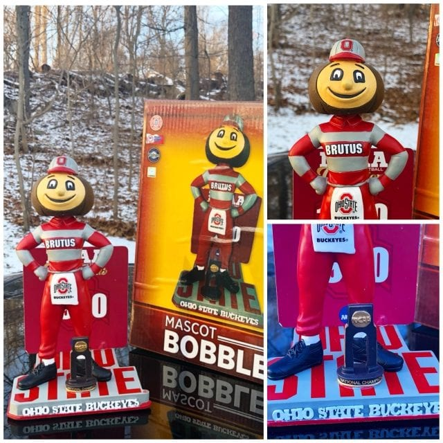 "Bobble of the Day ""Brutus"" Ohio State Buckeyes National Champs Bobblehead"