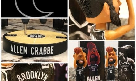 "Bobble of the Day ""Allen Crabbe"" Brooklyn Nets SGA Bobblehead"