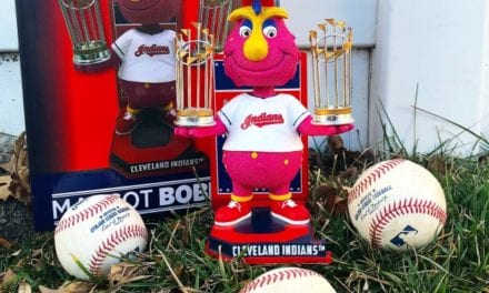 "Bobble of the Day ""Slider"" Cleveland Indians World Series Championship Bobblehead"