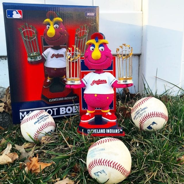 """Bobble of the Day """"Slider"""" Cleveland Indians World Series Championship Bobblehead"""