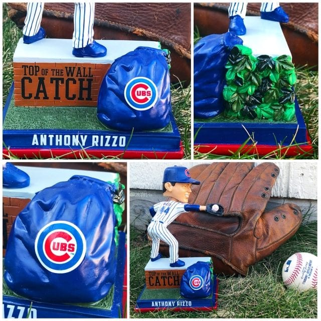 """Bobble of the Day """"Anthony Rizzo"""" Chicago Cubs Wall Catch Bobblehead"""