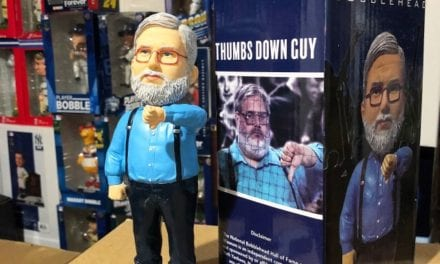 "Bobble of the Day Gary Dunaier ""Thumbs Down Guy"" Bobblehead"