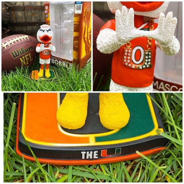 "Bobble of the Day Miami Hurricanes ""Turnover Chain"" Exclusive Bobblehead"