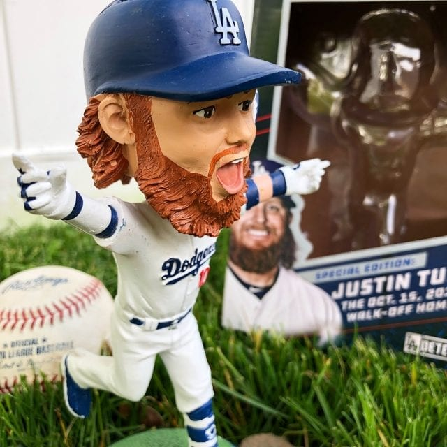 "Bobble of the Day ""Justin Turner"" Walk off Homerun Bobblehead"