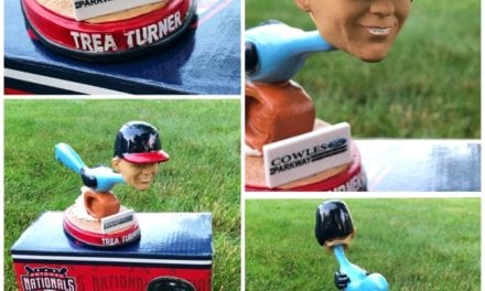 "Bobble of the Day ""Trea Turner"" Potomac Nationals Roadrunner SGA Bobblehead"