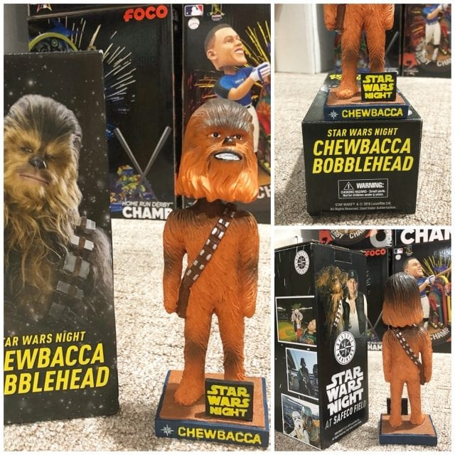 """Bobble of the Day """"Chewbacca"""" Star Wars Night Seattle Mariners"""