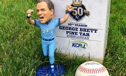 "Bobble of the Day ""George Brett"" Kansas City Royals ""Pine Tar"" Game SGA Bobblehead"