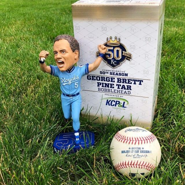 "Bobble of the Day ""George Brett"" Kansas City Royals ""Pine Tar"" Game SGA Bobblehead"