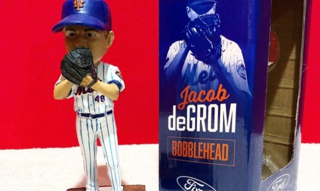 "The Aftermath- Bobble of the Day ""Jacob DeGrom"" NYM Mets SGA Bobblehead"
