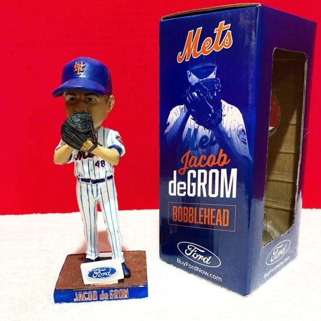 """The Aftermath- Bobble of the Day """"Jacob DeGrom"""" NYM Mets SGA Bobblehead"""