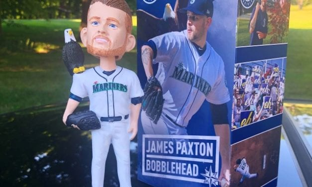 "Bobble of the Day ""James Paxton"" Seattle Mariners Bald Eagle SGA Bobblehead"