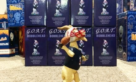 "Bobble of the Day ""G.O.A.T"" Tom Brady Pawtucket Red SOX SGA Bobblehead"
