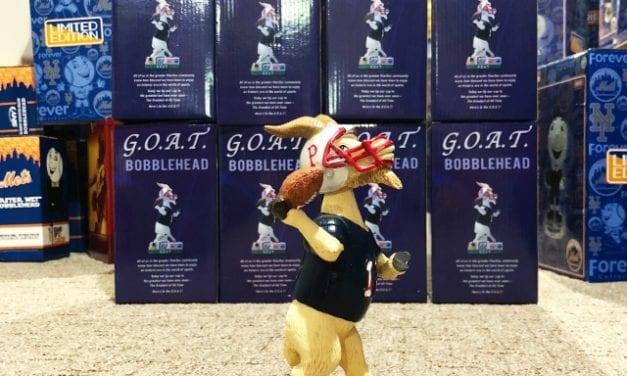 "Bobble of the Day ""G.O.A.T"" Tom Brady Pawtucket Red SOX SGA Bobblehead"