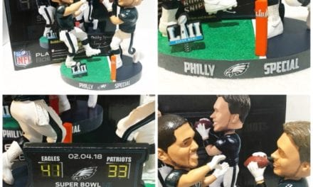"Bobble of the Day Trey Burton/Nick Foles ""Philly Special"" Duel Bobblehead"