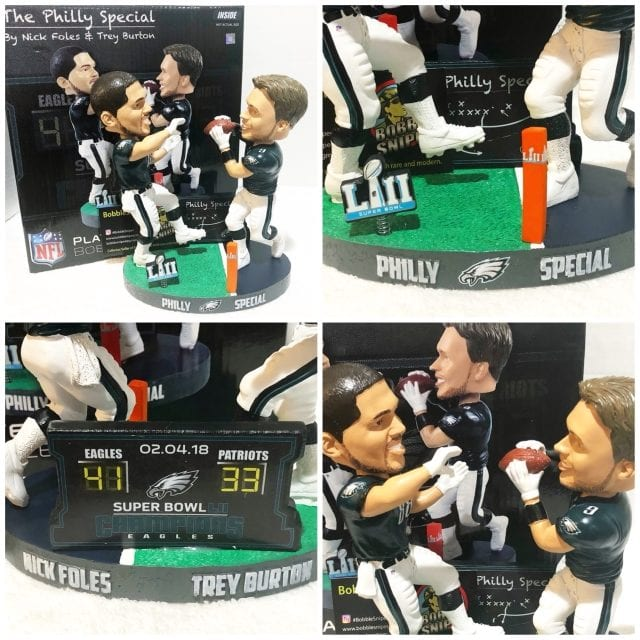 """Bobble of the Day Trey Burton/Nick Foles """"Philly Special"""" Duel Bobblehead"""