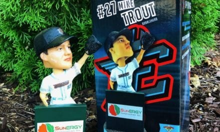 """Bobble of the Day """"Mike Trout"""" Inland Empire 66ers SGA Bobblehead"""