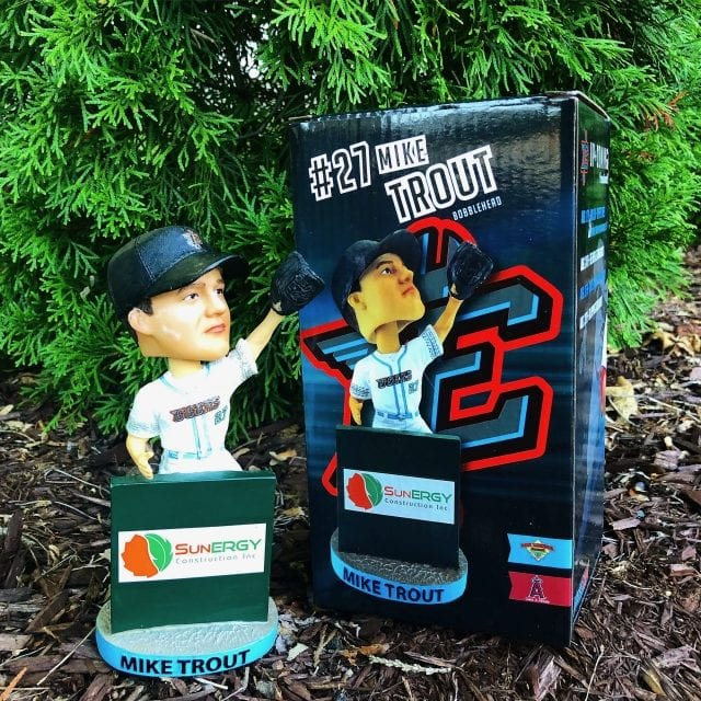 "Bobble of the Day ""Mike Trout"" Inland Empire 66ers SGA Bobblehead"