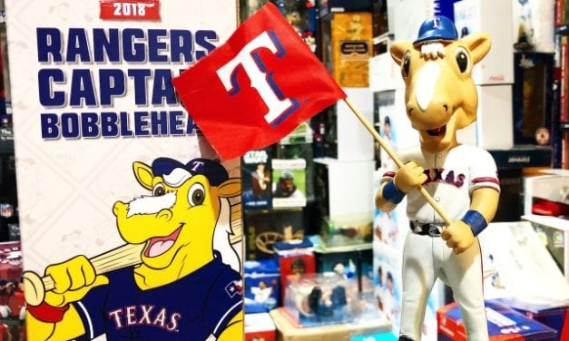 "Bobble of the Day Texas Rangers ""Captain"" Mascot SGA Bobblehead"