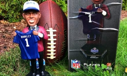 "Bobble of the Day ""Saquon Barkley "" New York Giants Draft Day Bobblehead"