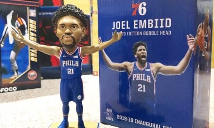 "Bobble of the Day ""Joel Embid"" 76ers SGA Bobblehead"