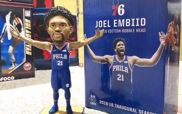 "Bobble of the Day ""Joel Embid"" 76ers SGA Bobblehead"