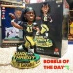 "Bobble of the Day ""Alvin Kamara Duel Threat Bobblehead"